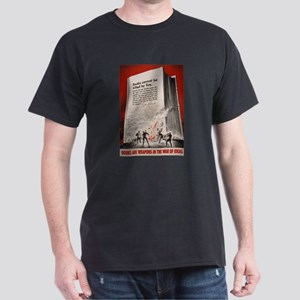 """""""Books cannot be killed by fi Black T-Shirt"""