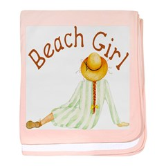 Beach Girl baby blanket