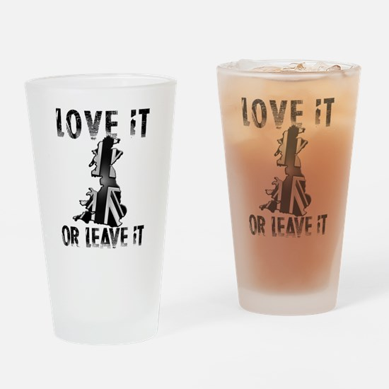 LOVE IT OR LEAVE IT Drinking Glass