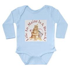 Life's a Beach! Long Sleeve Infant Bodysuit