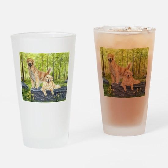 Golden Pair Drinking Glass