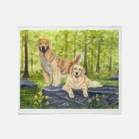 Golden Pair Throw Blanket