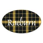 Tartan - Raeburn Sticker (Oval)