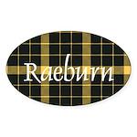 Tartan - Raeburn Sticker (Oval 10 pk)