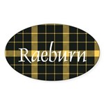 Tartan - Raeburn Sticker (Oval 50 pk)