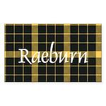 Tartan - Raeburn Sticker (Rectangle)