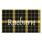 Tartan - Raeburn Sticker (Rectangle 50 pk)