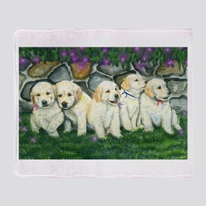 Golden Pups Throw Blanket