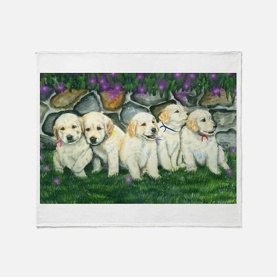 Golden Pups Throw Blanket