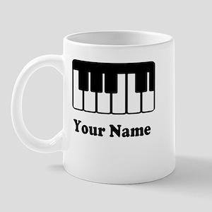 Personalized Piano Keyboard Mug