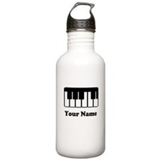 Personalized Piano Keyboard Stainless Water Bottle
