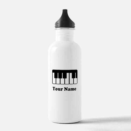 Personalized Piano Keyboard Water Bottle