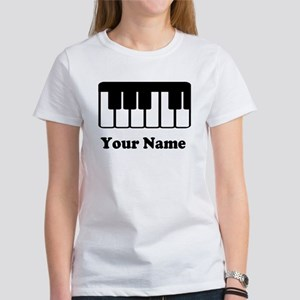 Personalized Piano Keyboard Women's T-Shirt