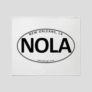 White Oval NOLA Throw Blanket