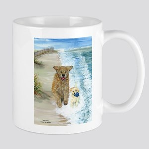 Golden Surf Dogs Mug