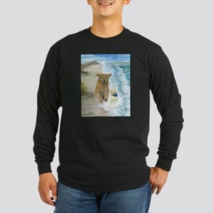 Golden Surf Dogs Long Sleeve Dark T-Shirt