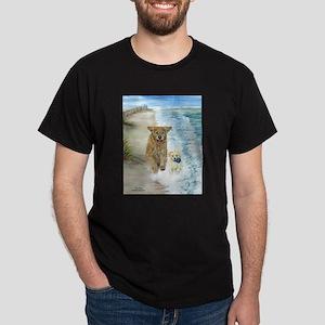 Golden Surf Dogs Dark T-Shirt