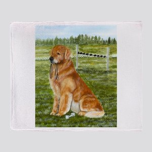 Golden Obedience Throw Blanket