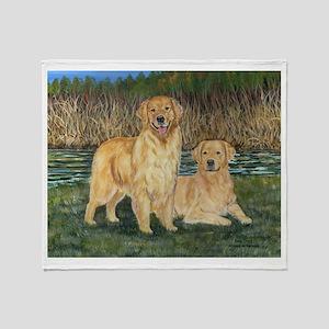 Golden Marsh Pair Throw Blanket