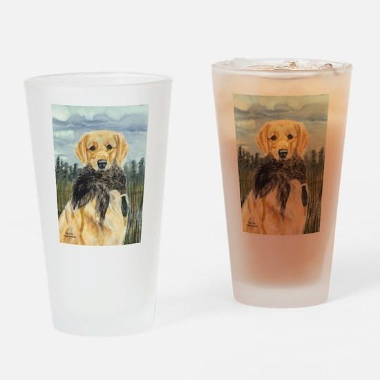 Golden Hunter Drinking Glass