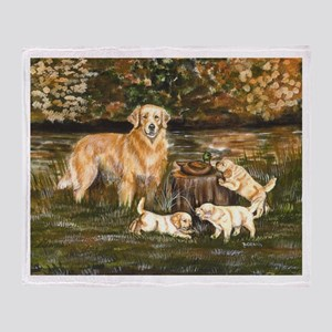Golden Family Throw Blanket