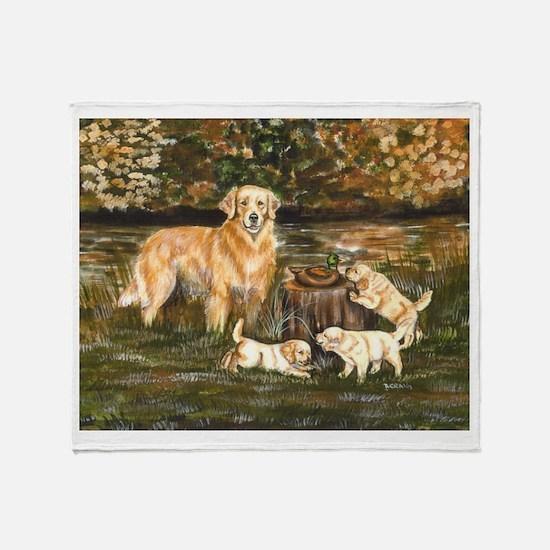 Golden Family Throw Blanket