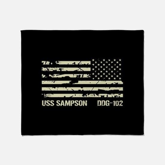 USS Sampson Throw Blanket