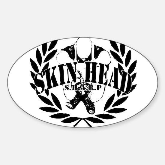 Unique Skinheads Sticker (Oval)