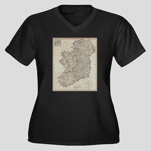Vintage Map of Ireland (1804) Plus Size T-Shirt