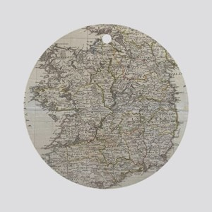 Vintage Map of Ireland (1804) Round Ornament