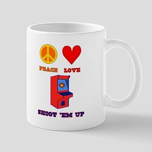 Peace Love Shoot 'em Up Mug