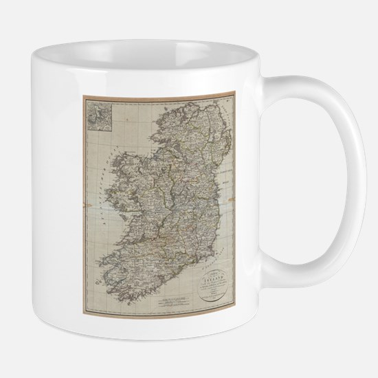 Vintage Map of Ireland (1804) Mugs