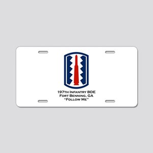 Follow Me Aluminum License Plate