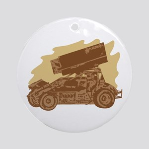 Spint Car Dirt Ornament (Round)