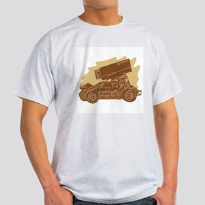 Spint Car Dirt Ash Grey T-Shirt
