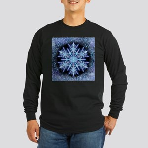 October Snowflake - square Long Sleeve T-Shirt