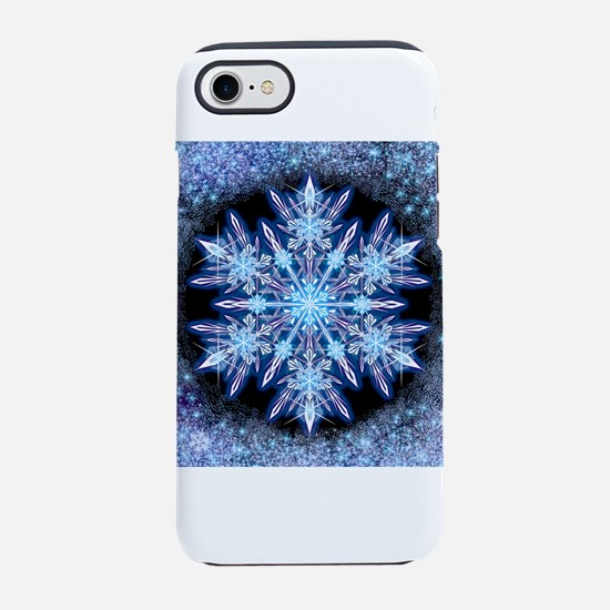 October Snowflake - square iPhone 7 Tough Case