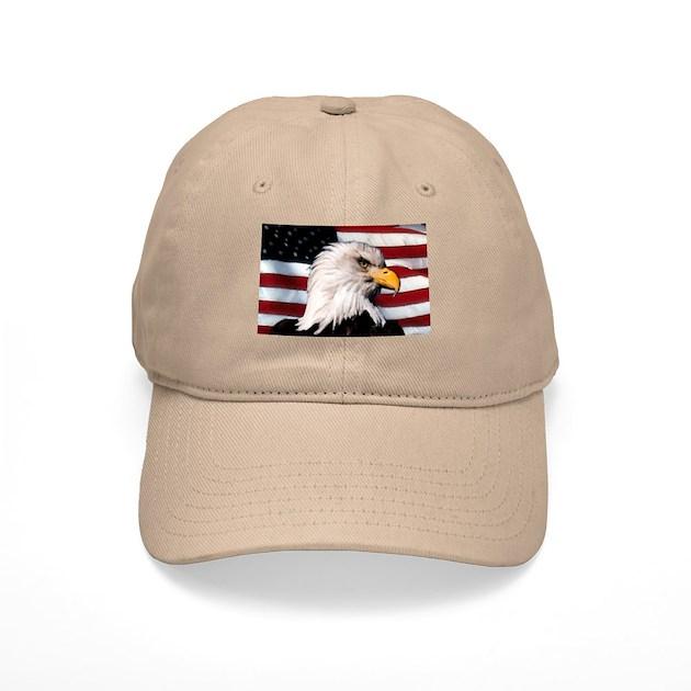 Bald Eagle Flag Water Color Baseball Cap By Paragonartworks