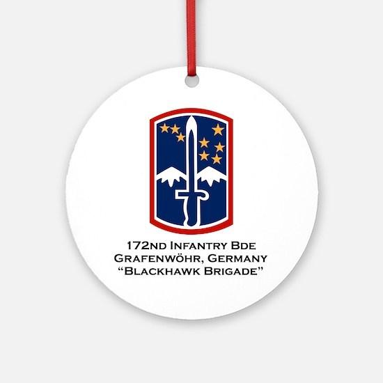 172nd Blackhawk Bde Ornament (Round)