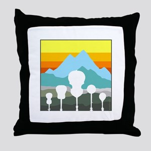 Mountain Music Throw Pillow