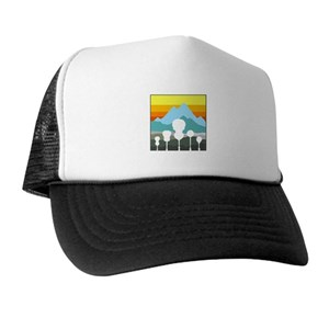 87db0834b397f Guitar Trucker Hats - CafePress