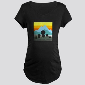 Mountain Music Maternity Dark T-Shirt