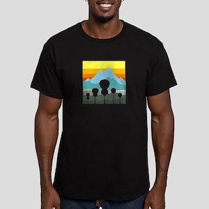 Mountain Music Men's Fitted T-Shirt (dark)