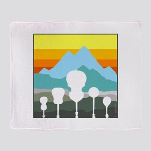 Mountain Music Throw Blanket