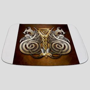 Norse Valknut Dragons Bathmat