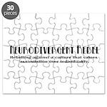 Neurodivergent Rebel - Black & White Puzzle