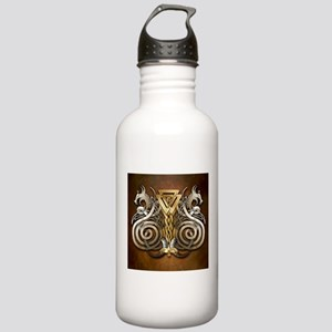 Norse Valknut Dragons Stainless Water Bottle 1.0L