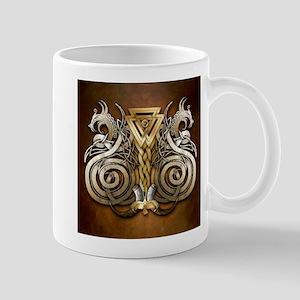 Norse Valknut Dragons Mugs