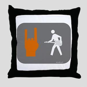 Don't walk - Rock Throw Pillow
