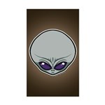 The Visitor (Gray) Sticker (Rectangle 10 pk)